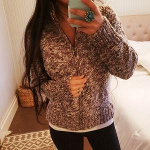 EXOFFICIO Chunky Wool Cableknit Cardigan Sweater